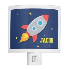 Rocket Ship, Outer Space, For Kids Room Night Light #night #lights
