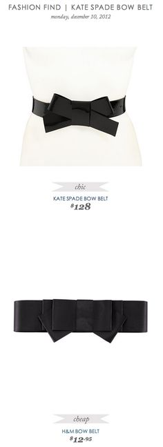 COPY CAT CHIC FASHION FIND | KATE SPADE BOW BELT