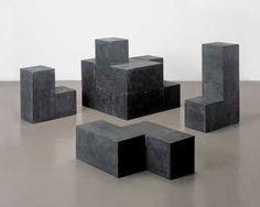 Damián Ortega Concrete cube (black), 2003 Cast concrete with black pigment Concrete Art, Concrete Design, Damian Ortega, Cube Design, Vintage Colors, Installation Art, Art Installations, Sculpture Art, Metal Sculptures