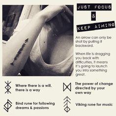 #tattoo #owndesign #arrow #runes