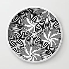 Black and White Flower Pattern Home Decor Wall Clock White Frame Photography Gallery, Wildlife Photography, White Clocks, Landscape Photographers, Clay Art, Flower Patterns, White Flowers, Fine Art Prints, Wall Decor
