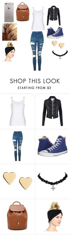 """""""School Atire"""" by eldrianmcdonnell ❤ liked on Polyvore featuring LE3NO, Topshop, Converse, Lipsy and Forever 21"""
