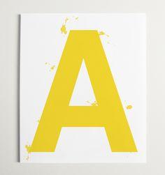 "Custom Splash Alphabet Letter Wall Art Print - 16"" x 20"""