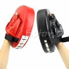 Boxing Mitt Karate Combat MMA Thai Kick Training Focus Target Punch Pad Glove #Unbranded