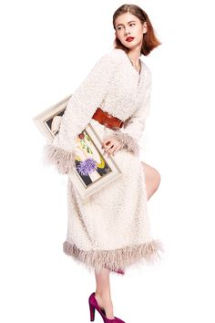 YIGELILA Women White O-neck Long Sleeve Faux Fox Fur Coat for Winter X-Large. Brand: YIGELILA. Available sizes and colors of stylish faux fox fur outerwear excellently fit well with your demand. Other sizes we can provide custom-made services to you. Elegant o-neck collar, long fur sleeve and bottom decoration, long fur style with handsome slant pockets design look stereoscopic and gorgeous as the cool model when wearing this practical and fashion fur coat. This outerwear are suitable for...