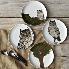 Owl dessert plates...perfect for fall