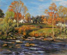October Morning No. 1 by Willard Leroy Metcalf