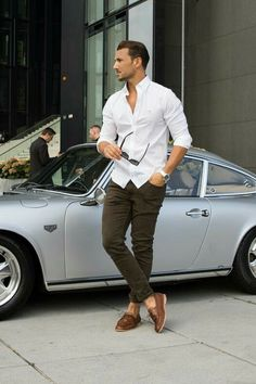 how to wear casual shirt for men - Tap the LINK now to see all our amazing accessories, that we have found for a fraction of the price <3 Mens Casual Dress Outfits, Mens Casual Shirts, Outfits For Men, Clothes For Men, Summer Outfits Men, Casual Wear For Men, Best Business Casual Outfits, Men Wear, Outfit Hombre Casual