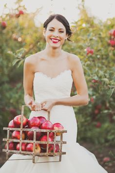 Apple orchard wedding inspiration from Nessa K Photography and Sarah Park Events.