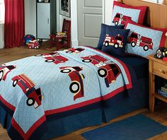 Children's Fire Truck Quilted Bed Set | Shared by LION