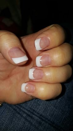 Sparkling French manicure