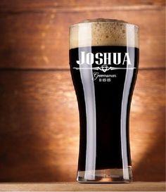 Groomsmen Gifts, 4 Personalized Pub Glasses, Groomsman Beer Glasses, Custom Beer Glass, Beer Mug, Wedding Party Favors, Gifts for Groomsmen by BackRoadsPZ on Etsy