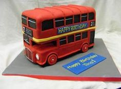London Bus Birthday Cake