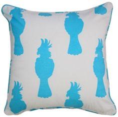 Cockatoo Cushion - Aqua