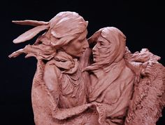 Western Bronze Sculpture The Edge of Winter by by CulturalPatina