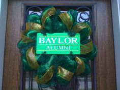 Baylor wreath by AuntKittysbowtique on Etsy, made by a Baylor alum!