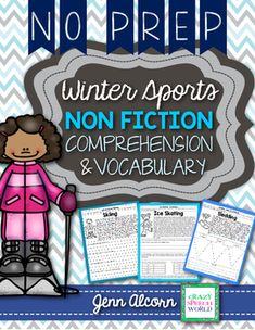 This product is perfect for targeting multiple skills in your mixed language groups! It contains 6 nonfiction passages about winter activities, each with 3 different pages of focus: answering comprehension questions, vocabulary concepts, and main idea & details.