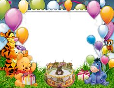 Birthday quotes for kids disney winnie the pooh 16 super ideas Disney Winnie The Pooh, Winnie The Pooh Pictures, Winnie The Pooh Themes, Winnie The Pooh Birthday, Winnie The Pooh Friends, Birthday Photo Frame, Happy Birthday Frame, Birthday Frames, Birthday Background