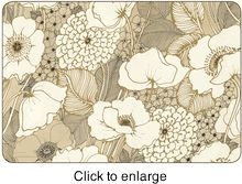 Jason Placemats - Pen and Ink Flowers, Set of Four - click to enlarge