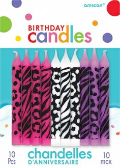 Spice up any #birthday cake with these super unique and fun animal print birthday candles! Zebra, cheetah and leopard designs make these fabulous! only 99 cents from Parties2order