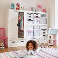 Our new kids' Wardrobe unit works brilliantly alongside our Northcote storage Units.
