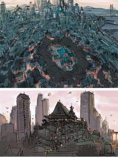 Novas artes de Scott Watanabe para Big Hero 6!   THECAB - The Concept Art Blog