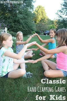 Who would have thought that hand clapping games could address so many different developmental skills at once! Bilateral coordination, memory and cognitive skills, and cooperative play are all packed into these fun group games for kids! Group Games For Kids, Craft Activities For Kids, Summer Activities, Fun Games, Children Games, Fun Group, Youth Activities, Hand Games For Kids, Hand Clapping Games