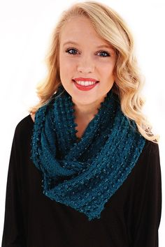 Royals Infinity Scarf - This deep and jewel toned shade of teal adds that brilliant pop of color to a neutral outfit.  - available online at http://www.envyboutique.us/shop/royals-infinity-scarf/ #Envy #Boutique #chic #fashion #fashiontrends #InfinityScarf, #TealScarf