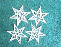 Купить Вырубка ,,Новогодние звёзды,, 4 шт в интернет магазине на Ярмарке Мастеров