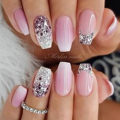 Are you looking for a gel nail art design and ideas? See our interesting collection of gel nail designs. I hope you can find the one you like best. Gel Nail Art Designs, Best Acrylic Nails, Best Nail Art, Pretty Nail Art, Bridal Nails, Wedding Gel Nails, Wedding Nails Design, Stylish Nails, Nagel Gel