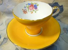 Your place to buy and sell all things handmade Chocolate Cups, Teacups, Cup And Saucer, 1930s, Corset, China, Tableware, Handmade, Vintage