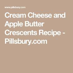 Cream Cheese and Apple Butter Crescents Recipe - Pillsbury.com