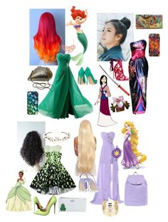 """""""Disney princess"""" by allisjess ❤ liked on Polyvore featuring Humble Chic, Casetify, Sophia Webster, pinkage, Disney, Marchesa, TradeMark, Anuschka, Christian Louboutin and Kate Spade"""