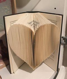 Bücher falten: Herz