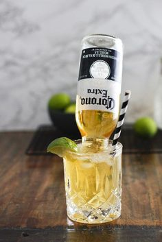 Frozen Margarita Corona Drink - Upside down Corona