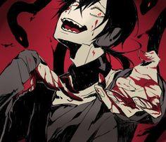 You're mine and mine alone, my dear ! Evil Anime, Dark Anime, Cute Anime Boy, Anime Guys, Horror Monsters, Dark Pictures, Kagerou Project, Sad Art, Shinigami