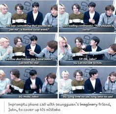 Seungkwan's friend John