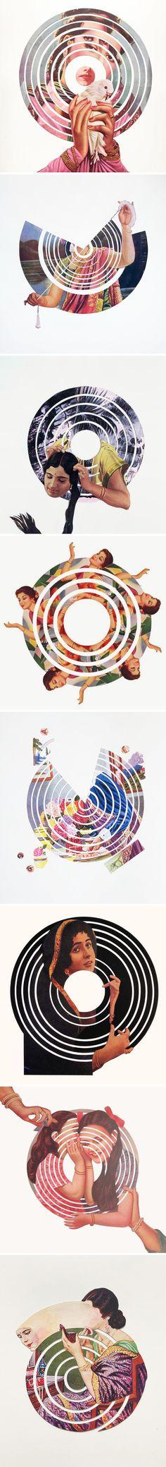 The Jealous Curator /// curated contemporary art /// maya varadaraj Collages, Collage Art, Photomontage, High School Art, Graphic Design Layouts, Modern Artists, Hand Illustration, Minimalist Art, Art Studios