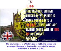 HOAX - 'Wiltshire Church to Become Mosque and Bodies Dug Up'