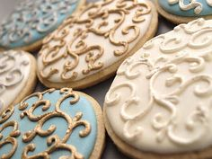 This blog has some great cookie decorating tutorials and ideas.