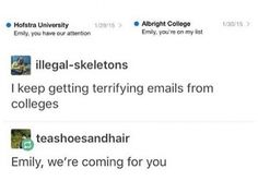 Terrifying colleges