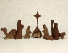 Conjunto (nogal) Natividad Belén, pesebre, pesebre, niño Jesús, Natividad silueta