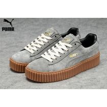 Men s Women s Fenty Puma by Rihanna Suede Creepers Shoes Grey Brown Suede  Creepers c8dc0afed