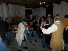 Dec. 31, 2013 - La Guiannee, a tradition practiced in Prairie du Rocher since 1722.  Shown here at Fort de Chartres.