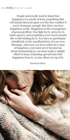 amazing words! fight for happiness!