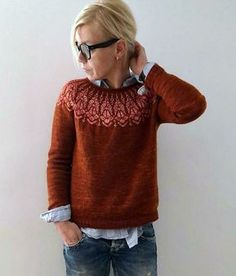 Chauncey sweater Knitting pattern by Isabell Kraemer - Stricken Cardigan 2019 Sweater Knitting Patterns, Knitting Designs, Knit Patterns, Jersey Jacquard, Cardigan En Maille, Ravelry, Looks Street Style, Dress Gloves, Fair Isle Knitting