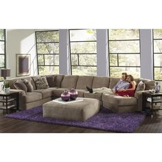 Okay, this is exactly what I'm looking for, only it would have to be flipped the other way. I like the color and everything!  Jackson Malibu Large Chaise Sectional Sofa with Ottoman, Taupe 3239