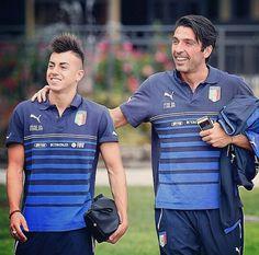 Stephan El Shaarawy & Gianluigi Buffon