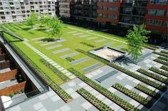 Masira Green Roof Park by Buro Sant en CO Landschapsarchitectuur Landscape And Urbanism, Landscape Concept, Landscape Architecture Design, Green Architecture, Urban Landscape, Landscape Plaza, Plaza Design, Rooftop Design, Sky Garden