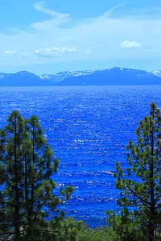Lake Tahoe is sooooo beautiful.  I would love to live here, but could only afford maybe the door on an outhouse?